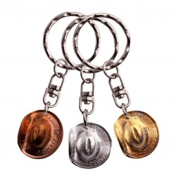 Half Penny Hat Key Ring from
