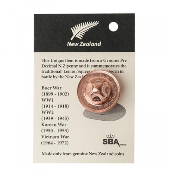 NZ Penny Hat Brooch from