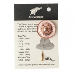 NZ Penny Hat Lapel Pin from