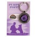 Purple Poppy Key Ring