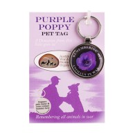 Purple Poppy Pet Tag