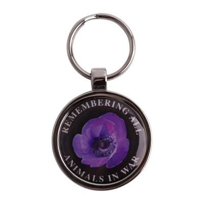 Purple Poppy Pet Tag