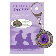 Purple Poppy Utility Clip