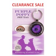 Purple Poppy Pet Tag - On Card