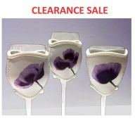 Purple Poppy Wine Glass Cooler