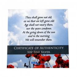 1oz Remembrance Poppy